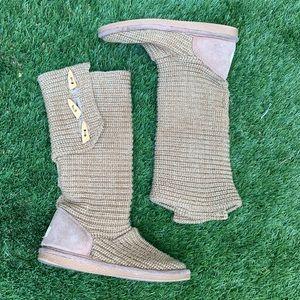 BearPaw   y'all crochet knit boots